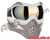 V-Force Grill Paintball Mask - SE White/Taupe w/ Mirror Gold Lens