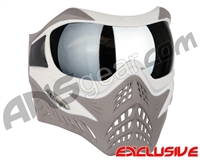 V-Force Grill Paintball Mask - SE White/Taupe w/ Mirror Silver Lens