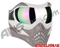 V-Force Grill Paintball Mask - SE White/Taupe w/ Phantom HDR Lens