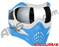 V-Force Grill Paintball Mask - SE White/Blue w/ Mirror Silver Lens