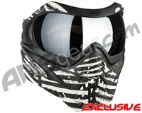 V-Force Grill Paintball Mask - SE Zebra w/ Mirror Silver Lens