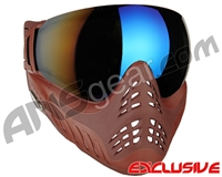 V-Force Profiler Paintball Mask - Clay w/ Mirror Blue Lens