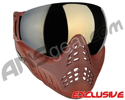 V-Force Profiler Paintball Mask - Clay w/ Mirror Gold Lens