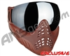V-Force Profiler Paintball Mask - Clay w/ Mirror Silver Lens
