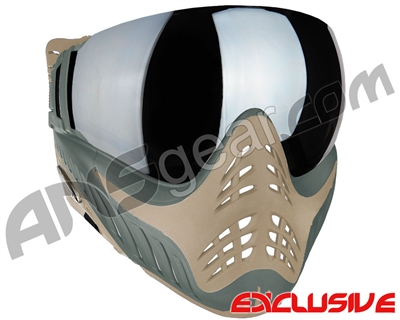 V-Force Profiler Paintball Mask - Swamp w/ Quicksilver` Lens