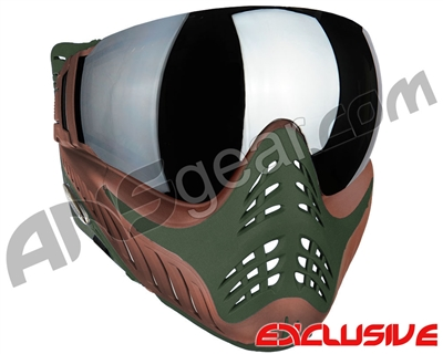 V-Force Profiler Paintball Mask - Terrain w/ Mirror Silver Lens