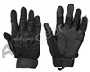 Warrior Paintball Full Finger Carbon Knuckle Gloves - Black