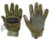 Warrior Paintball Full Finger Carbon Knuckle Gloves - Olive