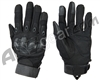 Warrior Paintball Full Finger Flex Knuckle Gloves - Black