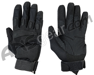 Warrior Paintball Full Finger Padded Gloves - Black