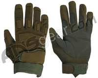 Warrior Paintball Full Finger Padded Gloves - Olive