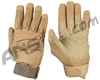 Warrior Paintball Full Finger Padded Gloves - Tan
