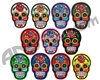 Warrior Iron On Embroidered Morale Patch - Sugar Skull (11-Pack)