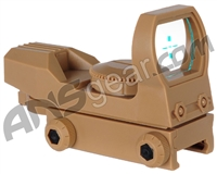 Warrior Basic Reflex Sight w/ Green Cross Reticle - Tan
