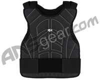 Warrior Paintball Body Armor Chest Protector - Black