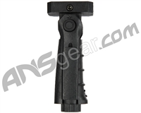 Warrior Paintball 5 Position Tactical Folding Foregrip w/ Pressure Plate - Black