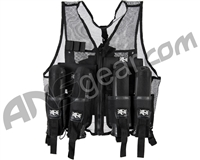 Warrior Paintball Lightweight Vest w/ 4 Pods - Black