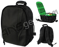 Warrior Paintball Backpack - Black/Green