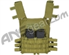 Warrior Low Profile Plate Carrier Paintball Vest - Olive Drab