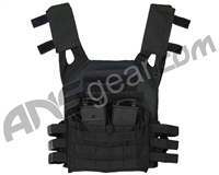 Warrior Low Profile Plate Carrier Airsoft Vest - Black