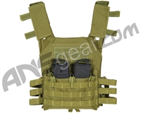 Warrior Low Profile Plate Carrier Airsoft Vest - Olive Drab
