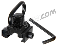 Warrior Paintball Quick Release Detachable Sling Mount Adapter For 20mm Rails