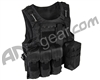 Warrior Paintball Tactical Molle Vest w/ Attachments - Black