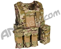 Warrior Paintball Tactical Molle Vest w/ Attachments - Multicam