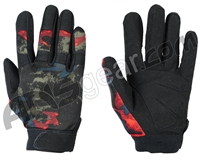 Warrior Paintball Tournament Gloves - Acid Red