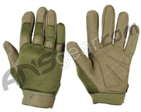 Warrior Paintball Tournament Gloves - Olive