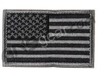 Warrior Velcro Morale Patch - US Flag - Black/Grey