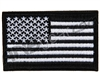 Warrior Velcro Morale Patch - US Flag - Black/White