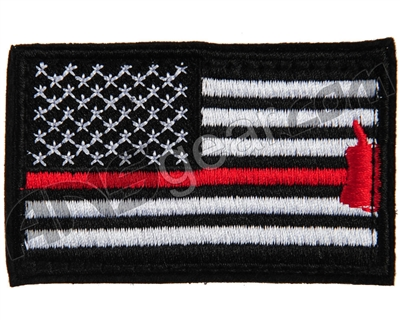 Warrior Velcro Morale Patch - US Flag - Black/White/Red