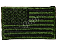 Warrior Velcro Morale Patch - US Flag - Green/Black