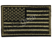 Warrior Velcro Morale Patch - US Flag - Olive/Black