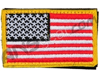 Warrior Velcro Morale Patch - US Flag - Red/White/Black