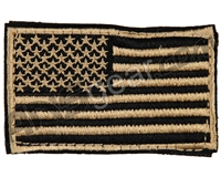 Warrior Velcro Morale Patch - US Flag - Tan/Black
