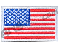 Warrior Velcro Morale Patch - US Flag - White/Red