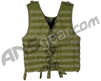 Warrior Paintball Zip Up Molle Vest - Olive Drab
