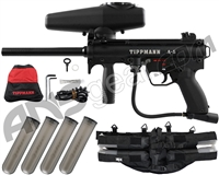 Tippmann A5 E w/ H.E. Grip, & 4+1 Paintball Harness